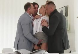 4 On 1 GangBang Brittany Bardot