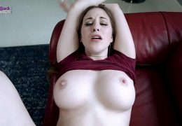 Fucking My Step Mom With Huge Boobs While she is Stuck to the Couch – Aimee Cambridge